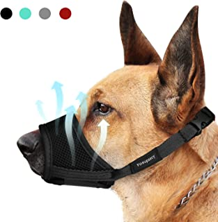 Yosupsecy Dog Muzzle, Nylon Soft Dog Muzzle for Small Medium Large Dogs, Air Mesh Breathable Drinkable and Adjustable Loo...