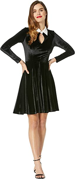 Velvet Long Sleeved Ricci Dress