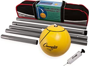 Champion Sports Portable Tetherball Set: Classic Backyard Lawn Beach and Pool Party Game..