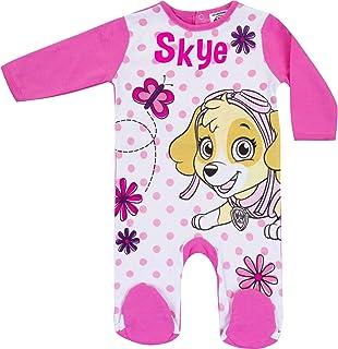 Babybogi Paw Patrol Baby Strampler Langarm Sky | Größe 68 74 80 86 | Nickelodeon Spielanzug für Mädchen | Kind Schlafanzug Druckknöpfe hinten