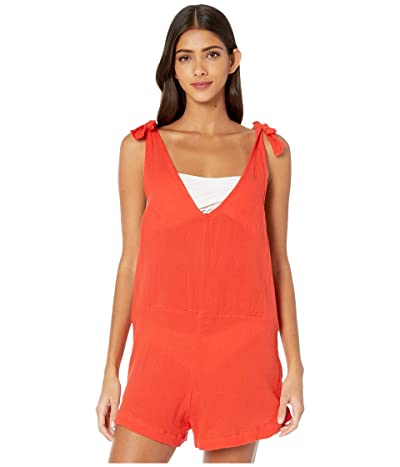 MIKOH SWIMWEAR Tarawa Romper Cover-Up (Fiery Red) Women