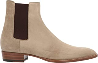 Luxury Fashion | Saint Laurent Men 443208BT3009870 Beige Suede Ankle Boots | Season Permanent