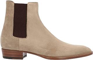 Luxury Fashion | Saint Laurent Men 443208BT3009870 Beige Suede Ankle Boots | Season Permanent