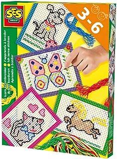 SES Creative lerne Sticken Kinder-Bastelkit, Mehrfarbig