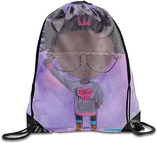 Drawstring Backpack Original Tote Bags for Gym Hiking Travel Beach - I AM Political