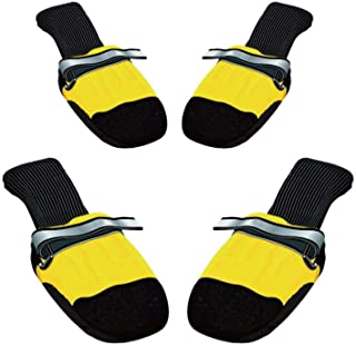 Cawbing Pet Supplies,Pet Dog Anti-Skid Rain Shoes,4pcs Waterproof Winter Pet Dog Shoes Anti-Slip Rain Snow Boots Footwear Thick Warm for Small Cats Dogs Puppy Dog Socks Booties