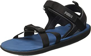 Puma Men's Pebble Ii Idp Black-Castlerock-gibr Outdoor Sandals