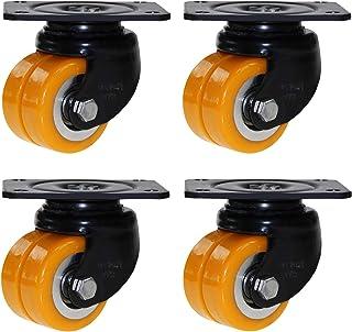 YJJT Vervangend wiel, Heavy Duty Caster met rem, kan 360 graden draaien, 4,5 mm dikke bodemplaat, slijtvast en duurzaam, p...