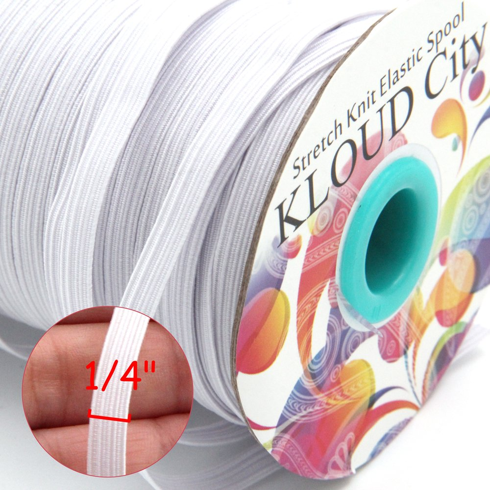 4 Pack Elastic Rope Combination,YuCool 1mm Circular Elastic Rope and 1mm Oblate Transparent Elastic Rope Used for Jewelry Making and DIY Crafts,241 Yard in Total