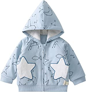 pureborn Toddler Unisex Baby Hooded Zip-up Constellation Quilted Cotton Lined Winter Jacket Coat