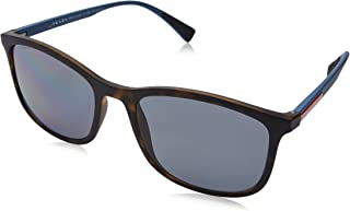 Sunglasses For Men By Prada, Blue Lens, 55mm