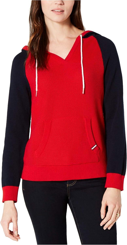 Tommy Hilfiger Womens Honeycomb Hoodie Sweatshirt