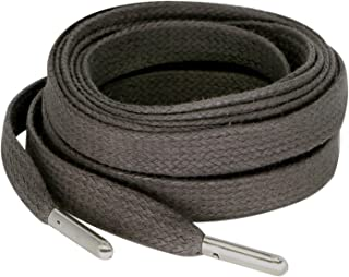 Flat Wax Shoelaces with Metal Tips for Sneakers Length 125CM