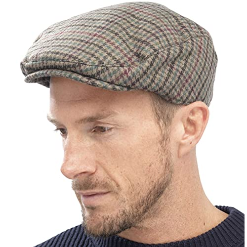 7180c5c54c48 New Adults Unisex Mens Ladies Tweed Country Style Flat Cap Hat Fully Lined