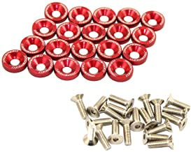 کیت لباس مجلسی خلیج موتور شستشوی موتور واشر آلومینیوم گلدان CNC 20 قطعه قرمز