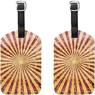 MASSIKOA Grunge Spiral Cruise Luggage Tags Suitcase Labels Bag,2 Pack