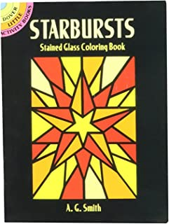 Dover Books Starbursts Stained Glass Color Book