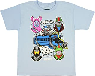 Fortnite Shirt Boys' Squad Up! Battle Bus Licensed T-Shirt