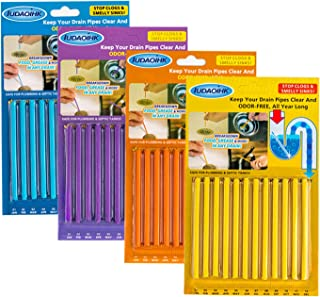 IUDAOIHK Drain Cleaner Sticks Keeps Drains and Pipes Clear and Odor As Seen On TV 4 Packs(48 pcs)