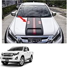 Powerwarauto Bonnet Hood Scoop Cover Matte Black + Red 1Pc Trim For Isuzu D-max Dmax Holden Rodeo 1.9 Blue Power 2016 2017 2018