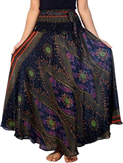 Women's Long Maxi Skirt Bohemian Gypsy Hippie Style Clothing