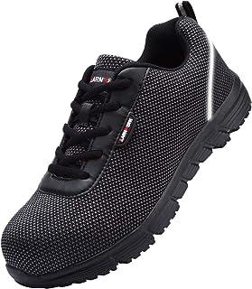 LARNMERN Chaussure de Securité Homme Femme,S1/SBP SRC Réfléchissant Legere Chaussure de Securité Réfléchissant Chaussure d...
