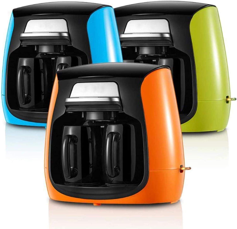 PJPPJH Cafetière Domestique entièrement Automatique Durable avec Machine à café américaine à Deux Tasses Blue
