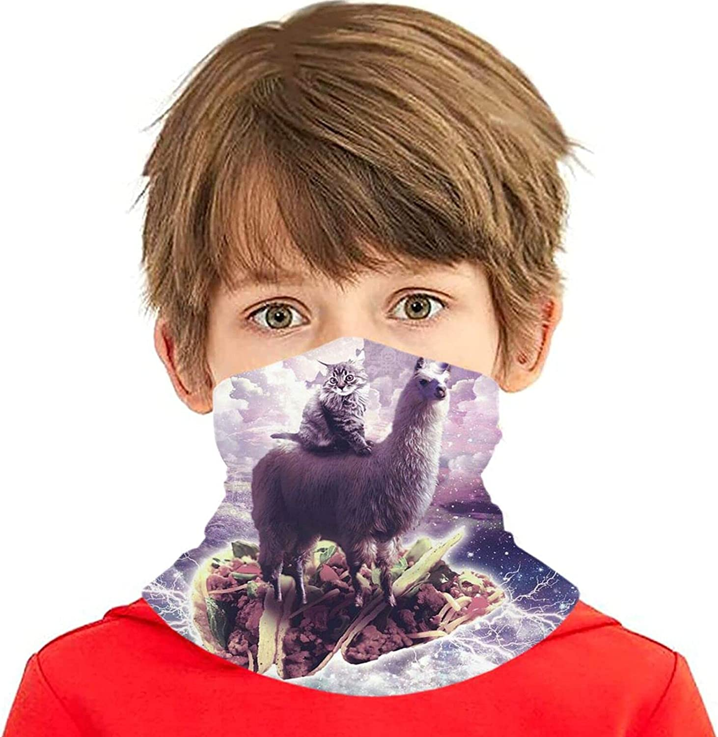 rerw famous Children Headwear Face Mask Space Cat Cheap mail order specialty store But Taco Llama Riding