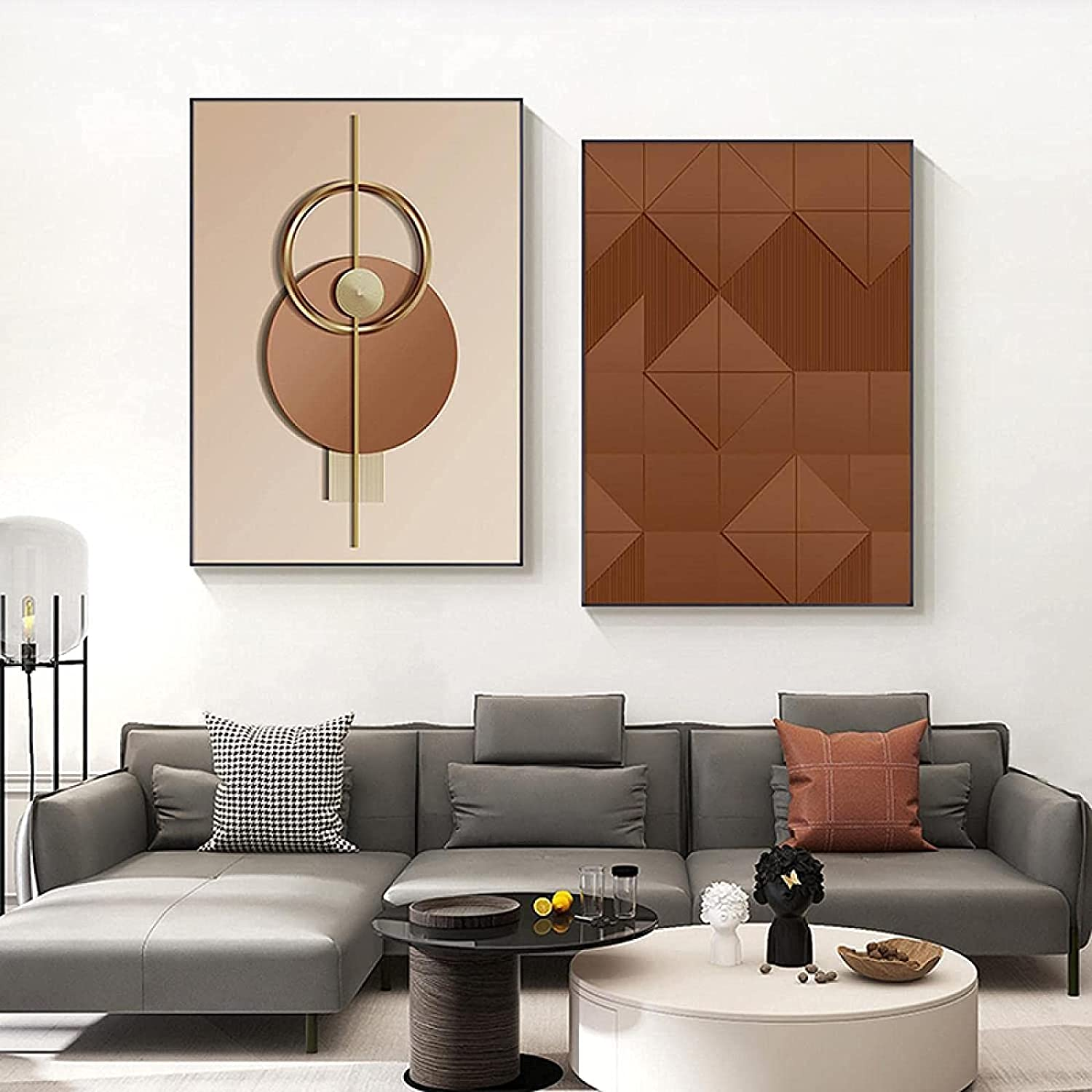 Canvas Wall Art High material 2 Piece 60x80cm 23.6x31.5in Abstract Frameless Complete Free Shipping