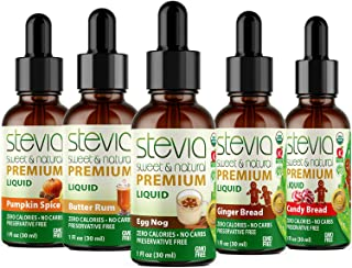 Sponsored Ad - Stevia Intl Best Selling (5 Pack ) | #1 Holiday & Seasonal Special | Premium Stevia drops | 5 Flavors in Hi...