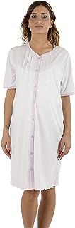 Premamy - Camicia Clinica per Premaman, Modello Aperto Davanti, Cotone Jersey, Pre-Post Parto
