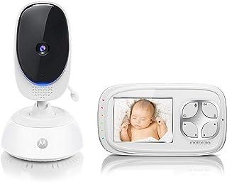 Motorola Baby Comfort C35 - Vigilabebés vídeo con pantalla LCD a color de 2.8 Color White
