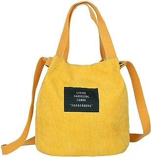 Lsdnlx Convas Tasche,Mini Cord Umhängetasche weiblich Neue kleine Leinwand Handtasche Totes Damen lässig Vintage Geldbörse...