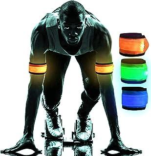 Sponsored Ad - MOONELF LED Armband Safety Running Lights for Runners Adjustable Slap Bracelets Light Reflective Gear with ...