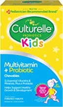Culturelle Kids Complete Multivitamin + Probiotic Chewable - Digestive & Immune Support for Kids - With Vitamin C, D3 and ...
