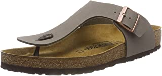 Birkenstock Women's Gizeh Birko Flor Regular Fit Toe Post Sandal Stone-Stone-4.5