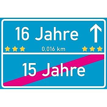 Ortsschild Deko Bild Geschenkidee zum 12 Geburtstag Glückwunsch Geschenk Karte