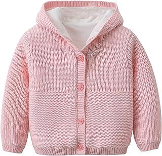 KAOKAOO Girls Kids Winter Flower Print Parka Outwear Cotton Coat Hooded Jacket