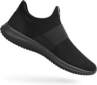 Feetmat Shoes for Men Slip On Knit Lightweight Gym Athletic Walking Running Sneakers Green