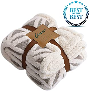 Gosiz Sherpa Fleece Blanket,Super Soft Blanket Fuzzy Extra Warm Blanket,Reversible Throw Blanket for Bed Couch Sofa Adults,Ultra Luxurious Bed Blanket Washable Plush Bed Blankets,Cozy Bedding Blanket
