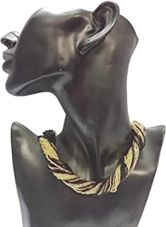 Venetiaurum - Collana Girocollo Multifilo Donna in Vetro di Murano e Argento - Gioiello 925 Made in Italy Certificato