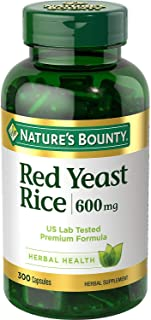 Nature's Bounty Red Yeast Rice 600 mg Capsules 250 ea (Pack of 2)