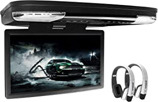 XTRONS 15.6 Inch 1080P Video HD Digital Widescreen Car Overhead Coach Caravan Roof Flip Down DVD Player Game Disc HDMI Por...