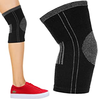 SocksLane Cotton Compression Knee Brace. Women and Men Support Sleeve for Running, Arthritis, Joint Pain Relief. ACL MCL Injury Recovery. Soft and Comfortable. Single
