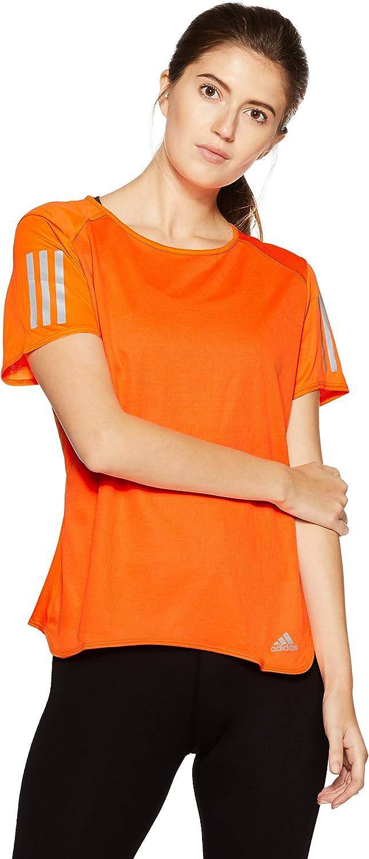 Adidas Women Tshirt Running Response Tee Fitness Workout Training CF2152