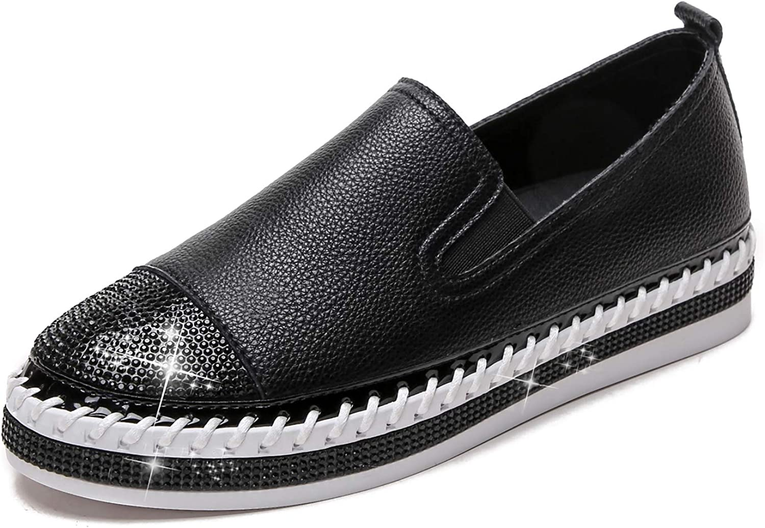 1 year warranty Tilocow Womens Shoes Platform Sneakers R Max 60% OFF On Slip Rhinestone with