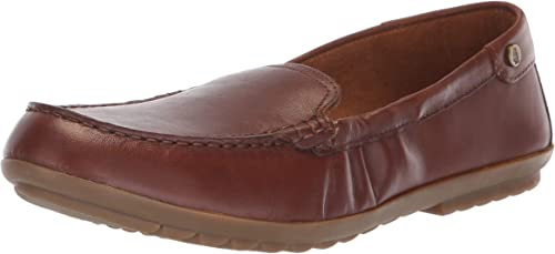 Hush Puppies Wohommes AIDI Mocc Slipon Driving Style Loafer, Dachshund Leather, 5.5 M US