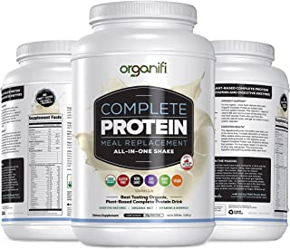 Organifi: Complete Protein - Vegan Protein Powder - Organic Plant Based Protein Drink - Soy, Dairy, and Gluten Free - Digestive Enzymes - Complete Vanilla Flavor - 30 Day Supply - Immunity Support