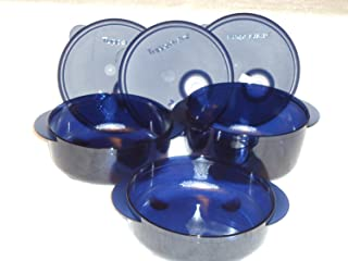 Tupperware Vent N Serve 3pc Small Round Set Nocturnal Sea Dark Blue