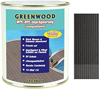 Greenwood - Premium WPC Pflege & Schutz Imprägnierung - Anthrazit - Grau 750ml #3L - Lösungsmittelfrei - Keine Ausdünstungen - Haustierfreundlich - Schadstofffrei
